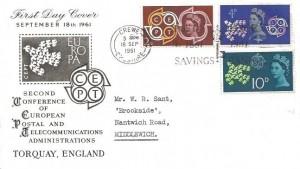 1961 CEPT, Illustrated FDC, Post Office 1861 - 1961 Savings Bank Crewe Cheshire Slogan