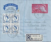 1957 46th Parliamentary Conference, Registered Parliamentary Conference Air Letter, Colston Street Bristol 1 cds.