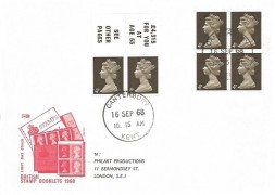 1968 2s Booklet, Philart FDC, Canterbury Kent cds