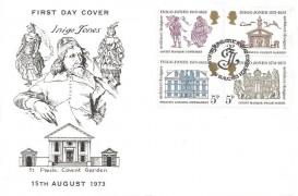 1973 Inigo Jones, Illustrated FDC, First Day of Issue Philatelic Bureau Edinburgh H/S