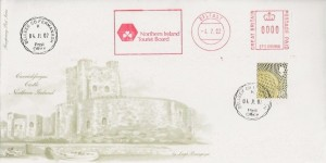 2002 Northern Ireland 68p Regional, 4d Post FDC, Belleek Co.Fermanagh cds, Northern Ireland Tourist Board Meter Mark