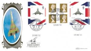 2009 British Classic Designs Concorde Retail Booklet No.3, Benham BLCS435 Official FDC, Concorde Anniversaries Filton Bristol H/S