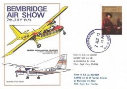 1973 Bembridge Air Show Flown Cover, Bembridge Isle of Wight cds