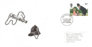 1979 Police, Set of Privately Produced FDC's, Huddersfield West Yorkshire FDI