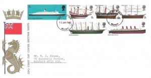 1969 British Ships, GPO FDC, Belfast FDI