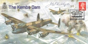 2001 The Kembs Dam Commemorative Cover, Guy Gibson and the Dambusters Scampton Lincoln H/S, Signed by Warrant Officer John (Des) Phillips