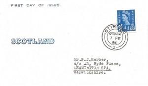 1966 4d Scotland Regional, Scotland FDC, Stirling cds