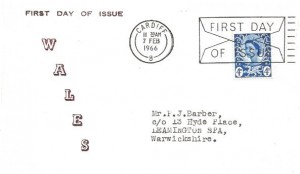 1966 4d Welsh Regional, Wales FDC, First Day of Issue Cardiff Slogan