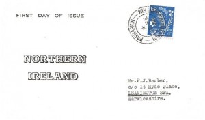 1966 4d Northern Ireland Regional, Northern Ireland FDC, Rasharkin Ballymena Co.Antrim cds