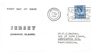 1966 4d Jersey Regional,  Jersey FDC, First Day of Issue Jersey Slogan