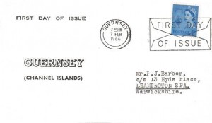 1966 4d Guernsey Regional, Guernsey FDC, First Day of Issue Guernsey Slogan