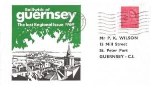1969 4d Guernsey Regional, P. K. Wilson Illustrated FDC, Guernsey Cancel