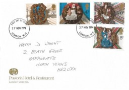 1974 Christmas, Pastoria Hotel & Restaurant FDC, London WC FDI