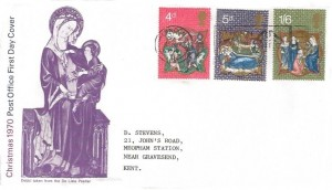 1970 Christmas, Post Office FDC, National Postal Museum London Slogan