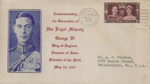 1937 King George VI Coronation, Illustrated FDC, London SW1 Cancel