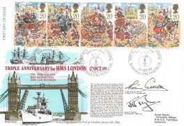 1989 The Lord Mayor's Show, Fleet Air Arm Museum Official FDC, 135th Anniversary First  Bombing of Sevastopol British Forces 1782 Postal Services H/S, Signed
