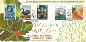 2003 Pub Signs, Bletchley Park Official FDC, Captain Ridley's Billet Bletchley Park Post Office Bletchley Milton Keynes H/S