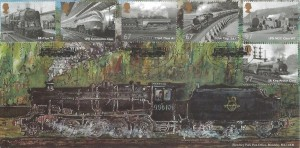 2010 Great British Railways, Bletchley Park  FDC, Great British Railways,BR Class 9F Locomotive York H/S