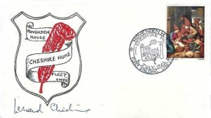1968 Hovenden House Cheshire Home Fleet Lincs. Commemorative cover, Hovenden House Cheshire Home Fleet Spalding Lincs. H/S, Signed by Leonard Cheshire