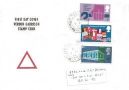1969 Notable Anniversaries. Verden Garrison Stamp Club FDC pair, Field Post Office 463 cds