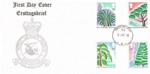 1990 Kew Gardens, RAF Bruggen FDC, Forces Post Office 93 cds