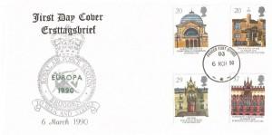 1990 Europa, RAF Bruggen FDC, Forces Post Office 93 cds