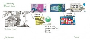 1969 Notable Anniversaries, Rural Oxted The Village Cage FDC, Croydon Surrey FDI