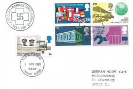 1969 Notable Anniversaries, German Underground Hospital Jersey FDC, Jersey Channel Islands FDI