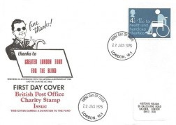 1975 Charity, Historic Relics Greater London Fund for the Blind FDC, London W1 FDI