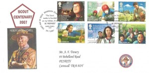 2007 Scouts, Privately Produced Trenery FDC, First Day of Issue Brownsea Island Poole Dorset H/S