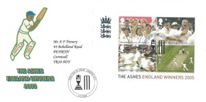 2005 Cricket The Ashes, Privately Produced Trenery FDC, First Day of Issue London SE11 H/S