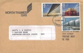 1983 Engineering, North Thames Gas FDC, London EC FDI