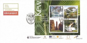 2009 Plants & Kew Garden Miniature Sheet, Eden Project FDC, Britain's Endangered Plants Action for Species Bodelva Cornwall H/S