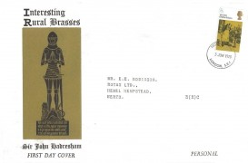 1970 Literary Anniversaries, Rural Brasses FDC, 5d Dickens Stamp only, London SE1 cds