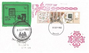 1982 Information Technology, Hartcliffe FDC, 15½p stamp only, Bristol FDI