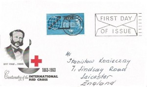 1963 Commonwealth Cable, BPA / PTS International Red Cross FDC, First Day of Issue Leicester Slogan