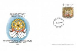 1984 London Economic Summit, The Rotary Club  International Convention FDC, Birmingham FDI