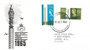 1965 Post Office Tower, British Philatelic Association and Philatelic Traders Society (PTS) FDC. London WC FDI