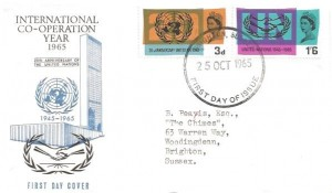 1965 United Nations, Illustrated FDC, Brighton Sussex FDI