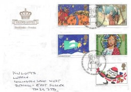 1981 Christmas, Grand Hotel Stockholm Sweden FDC, First Day of Issue Bethlehem Llandeilo H/S