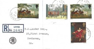 1967 Paintings, Registered Midland Bank Envelope FDC, Lewes Sussex cds