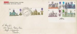 1969 British Cathedrals, G-Plan International Limited FDC, London Road High Wycombe Bucks. cds