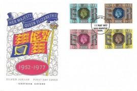 1977 Queens Silver Jubilee, Croydon Covers FDC, Hemel Hempstead Herts. FDI