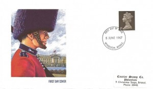 1967 QEII Definitive Issue, 4d Value only, Courier Stamp Co. FDC, Windsor Berks. FDI