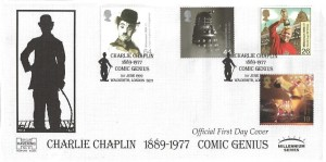 1999 Entertainers' Tale, Havering 150 Club Official FDC, Charlie Chaplin 1889 - 1977 Comic Genius Walworth London SE17 H/S