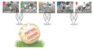 1996 Football Legends, Royal Mail FDC, Wembley Middlesex (Trophy) H/S