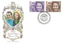 1973 Royal Wedding, Philart FDC, Royal Wedding Celebrations Great Somerford Chippenham Wilts. H/S