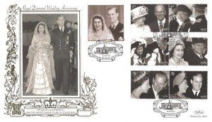 2007 Diamond Wedding, Benham 500 Gold Official FDC, Buckingham Palace Road London SW1 H/S