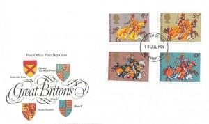 1974 Great Britons, Post Office FDC, Canterbury Kent FDI
