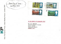 1966 British Landscapes, The Kynoch Press London SW1 FDC, Ship Early through the Port of London W1 Slogan